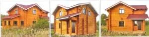 красивый дом из бревна