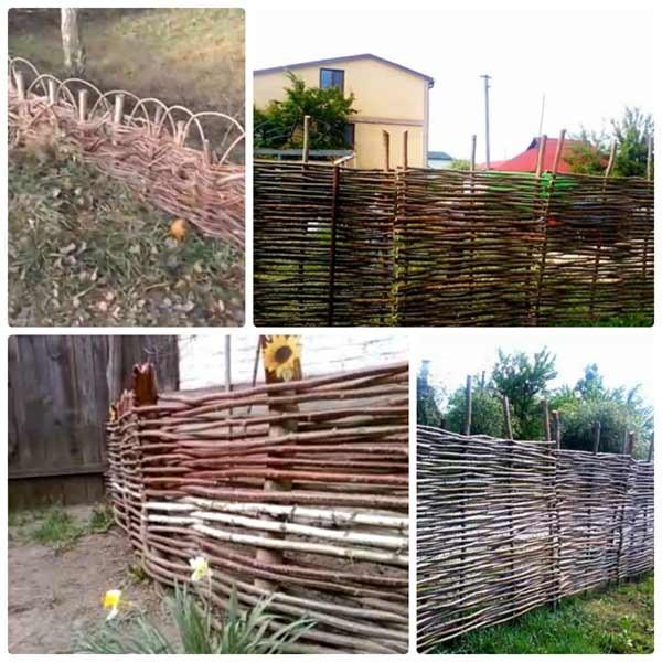 плетеный забор