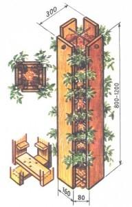 вертикальная посадка клубники