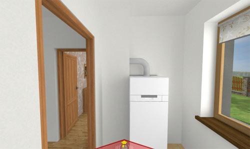 помещение с напольным газовым котлом