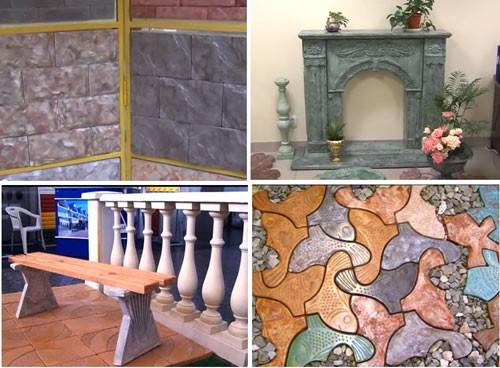 мрамор из бетона своими руками