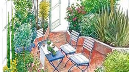 обустроенный зимний сад