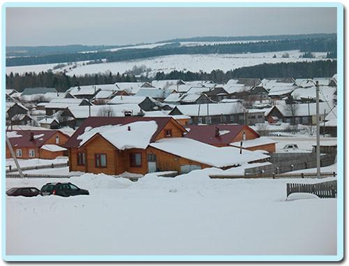 зимние крыши