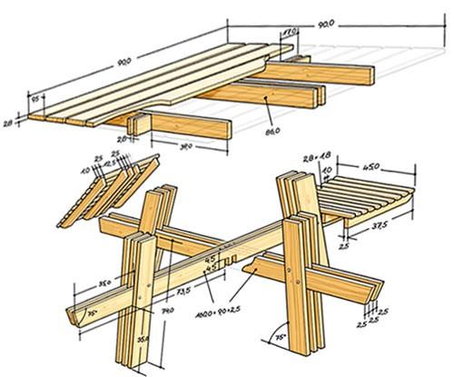 сборка стола для дачи