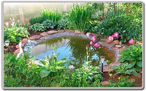 декоративный пруд для сбора дождевой воды