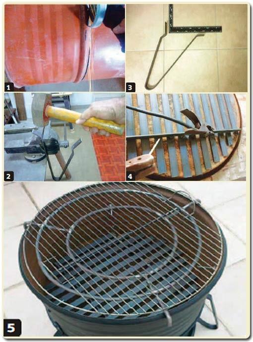 изготовление мангала-барбекю