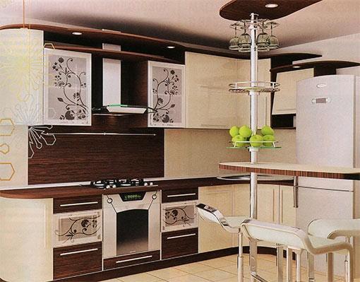 оттенки кухонной мебели