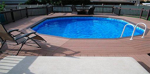 террасы с бассейном