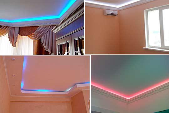 скрытая подсветка потолка
