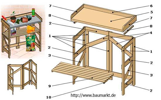 стол для садовода