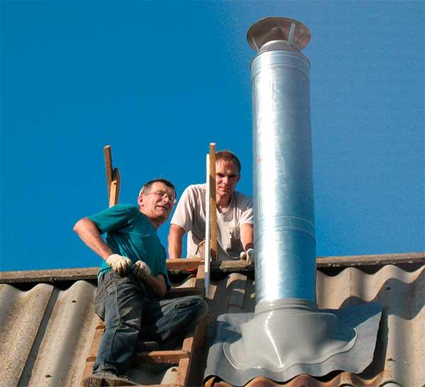 герметизация прохода дымохода