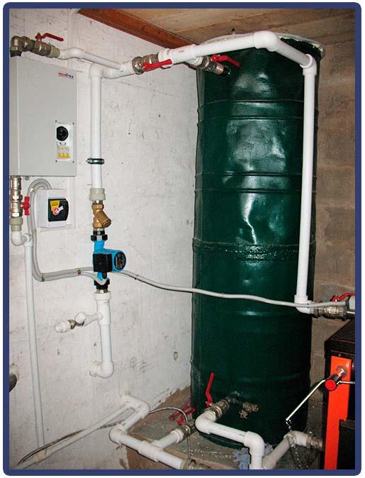 система отопления с теплоаккумулятором