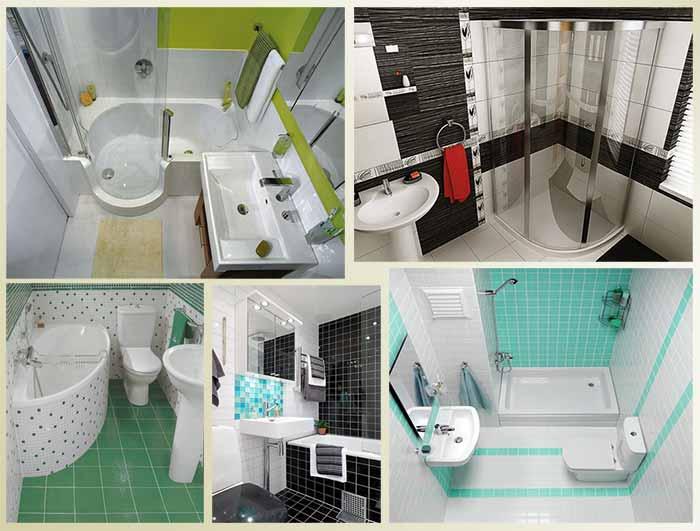 ванная комната в небольшой квартире