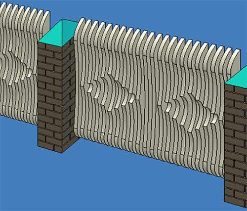 объемный забор