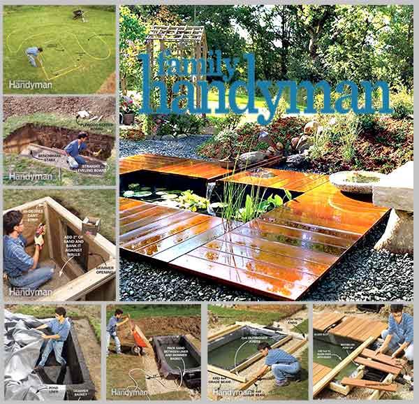 пруд с деревянным настилом