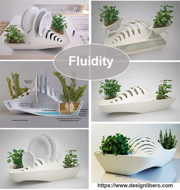 сушилка для посуды Fluidity
