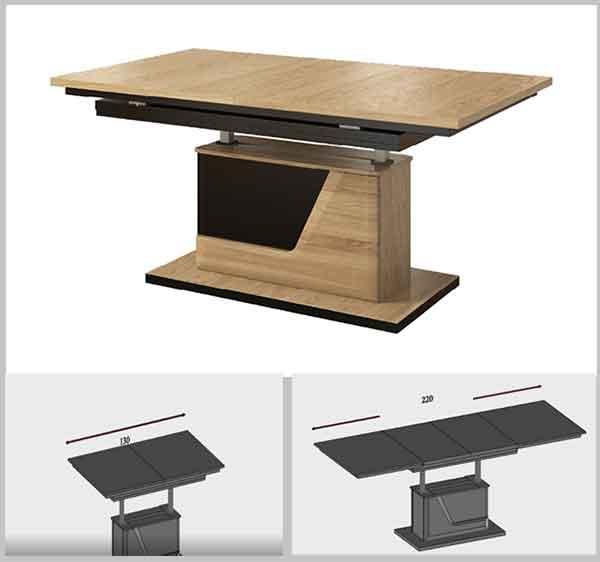 стол-трансформер с пневматическим подъемником