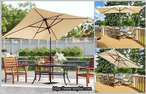 квадратный консольный зонтик