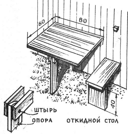 небольшой откидной столик