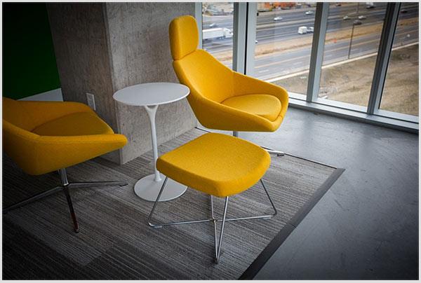 яркие цвета мебели