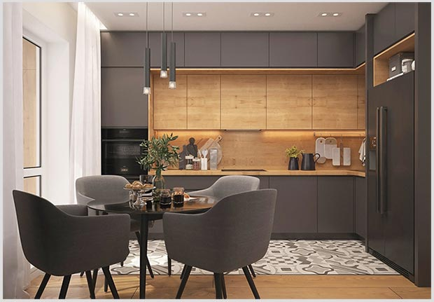 пространство над кухонными шкафами