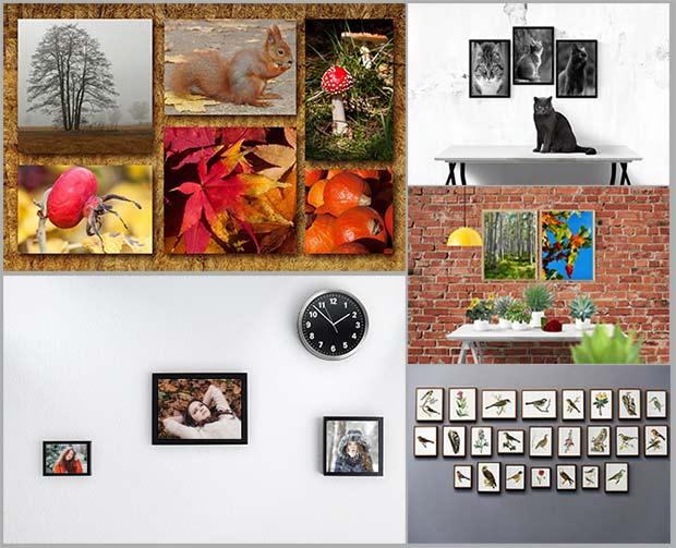 размещайте изображения на стене