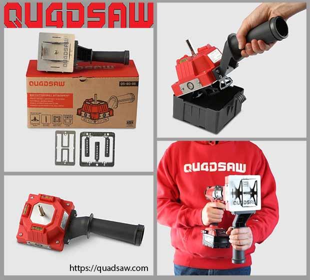 насадка Quadsaw на электродрель