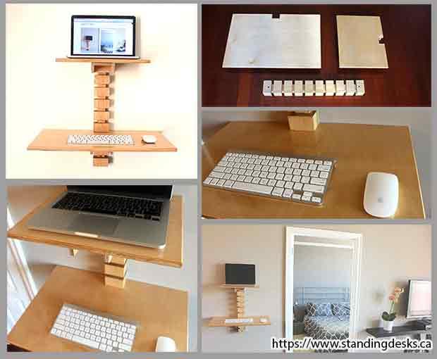 настенный столик для домашнего офиса