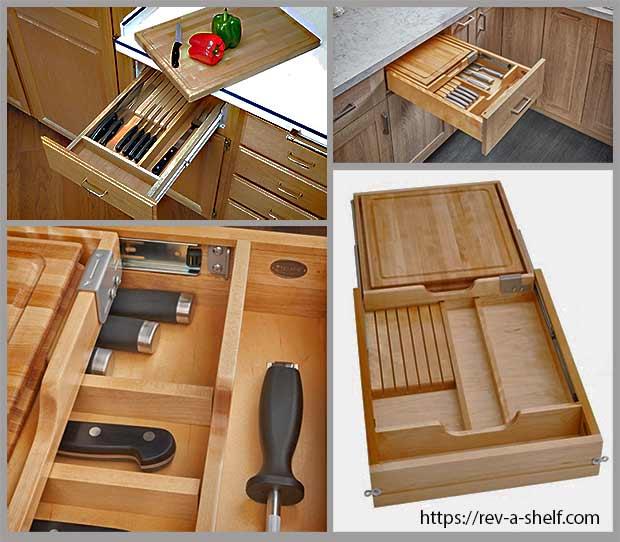 ящик для ножей c разделочной доской