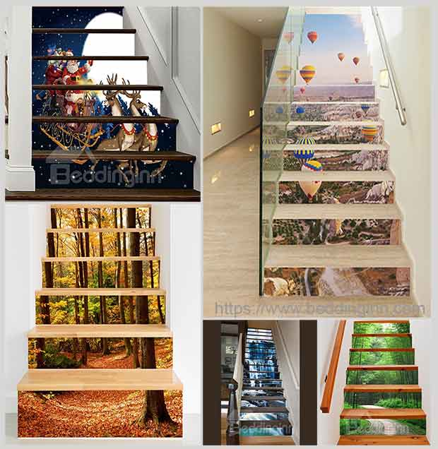фотообои на лестнице