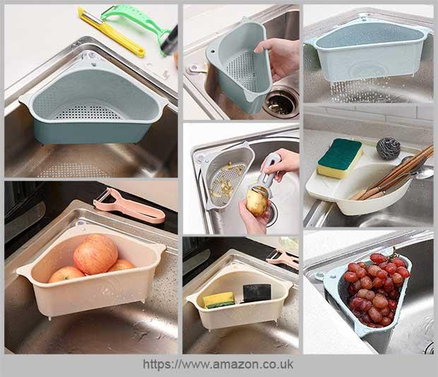 угловая корзина для кухонной мойки