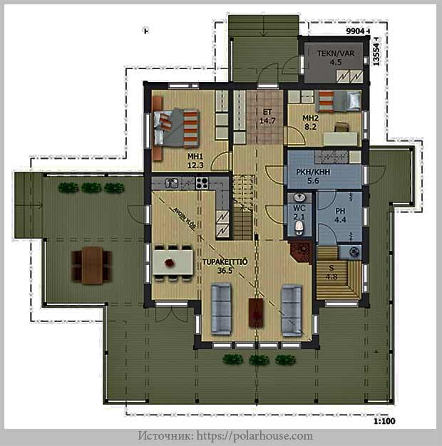 план первого этажа Nova 112