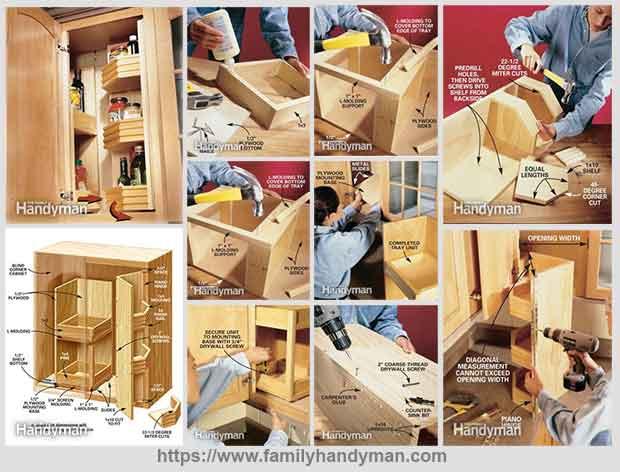 проект полок для углового шкафа