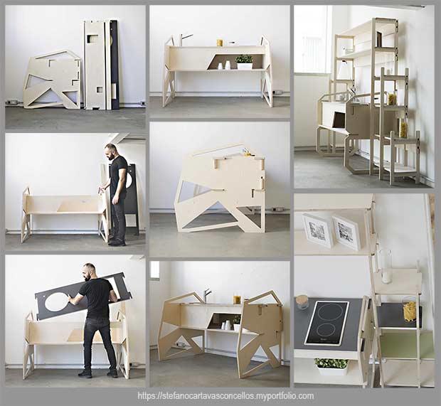 кухонная мебель из семи деталей
