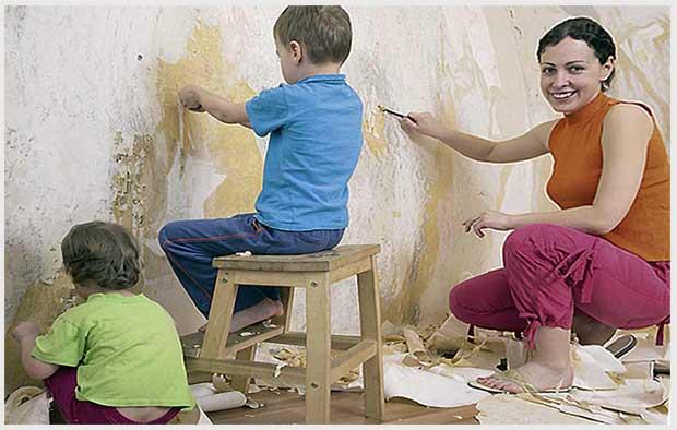 ремонт с детьми