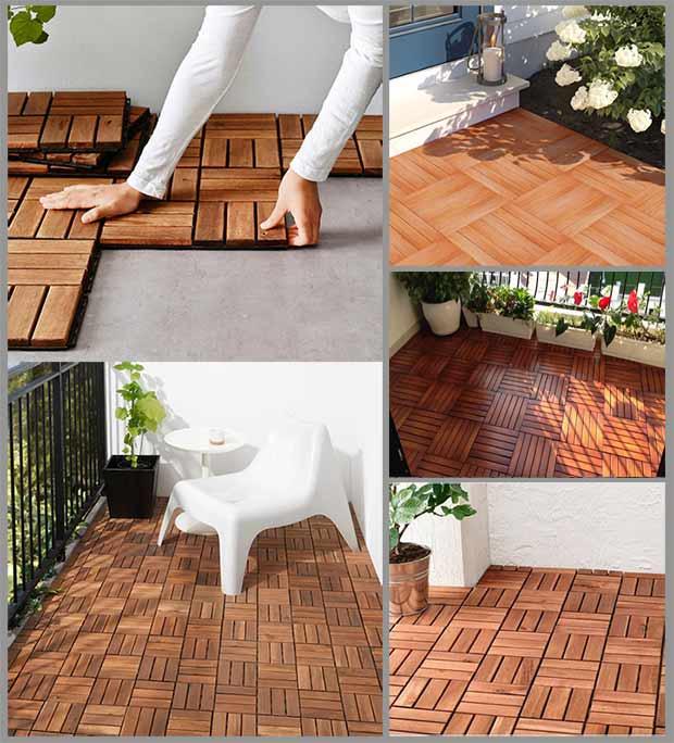 деревянная плитка декинг
