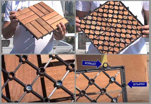 укладка деревянной плитки