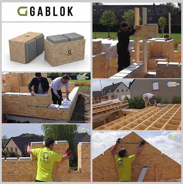 дом из деревянных блоков