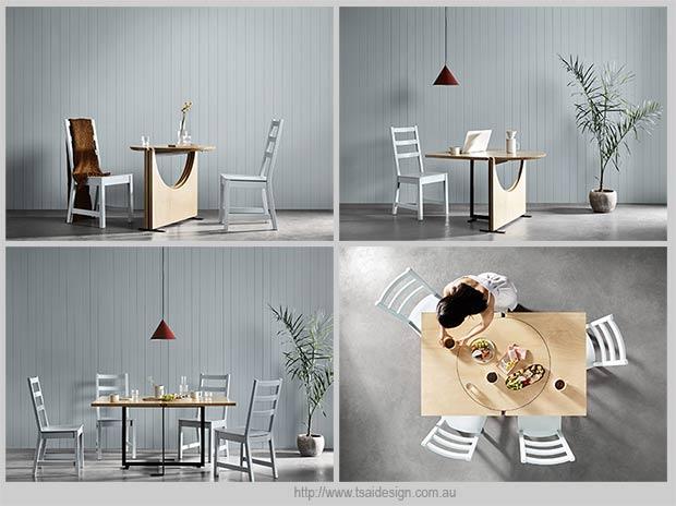превращение круглого стола в прямоугольный