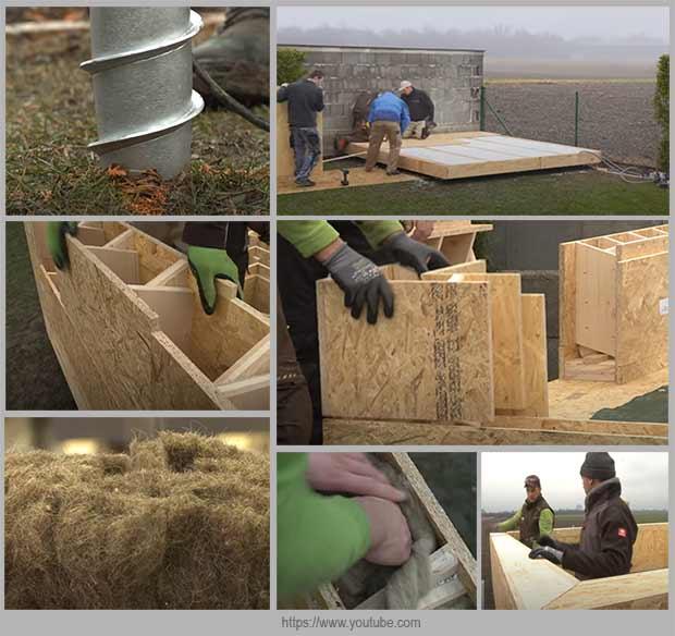 сауна из деревянных кирпичей