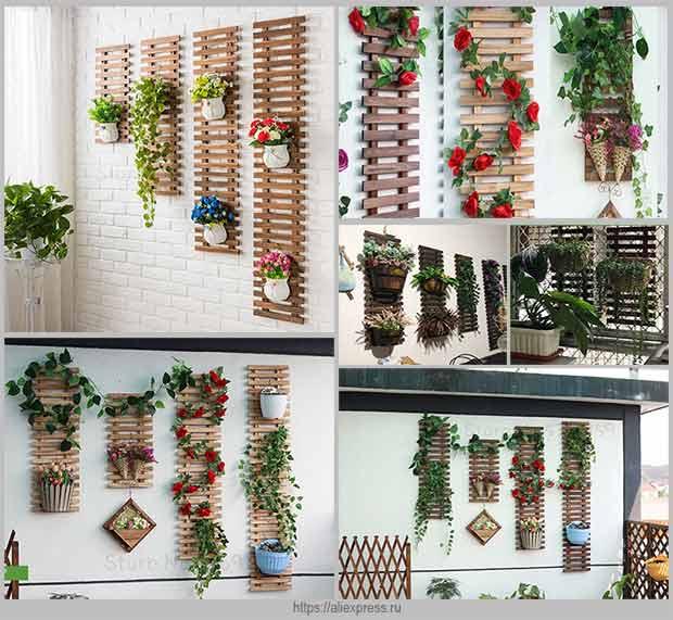 вертикальные деревянные шпалеры
