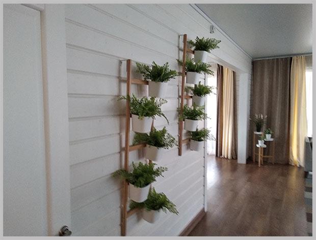 шпалеры в интерьере комнаты