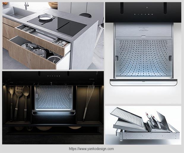 кухонная вытяжка с нисходящим потоком