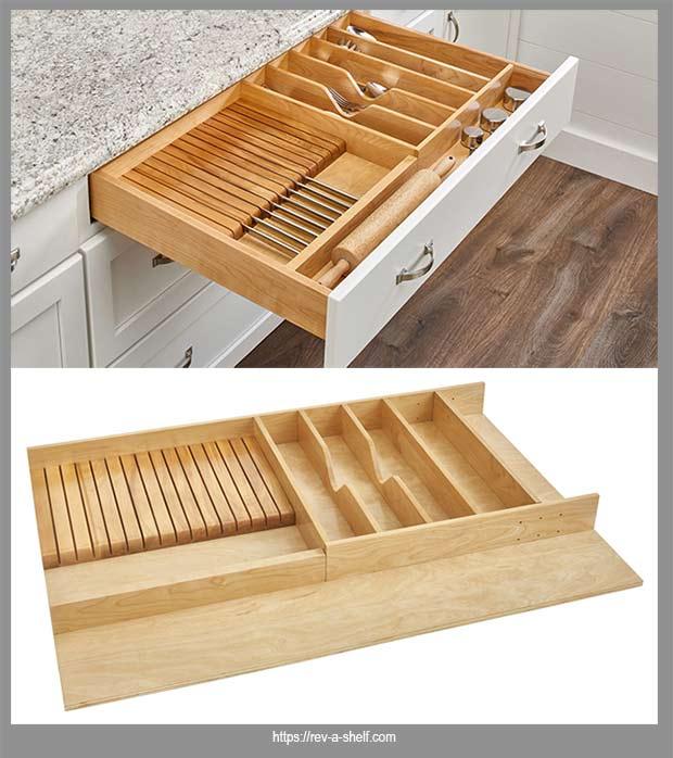 вставной органайзер в кухонный ящик