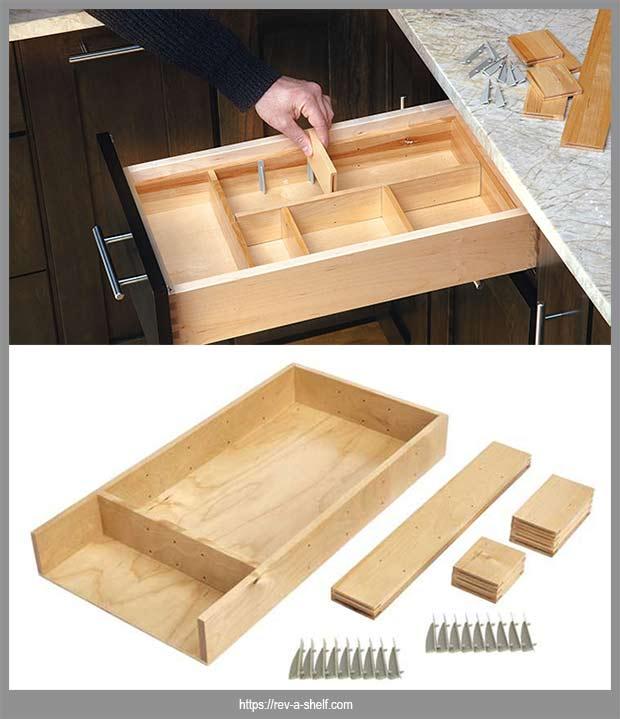 органайзер для вставки в ящик