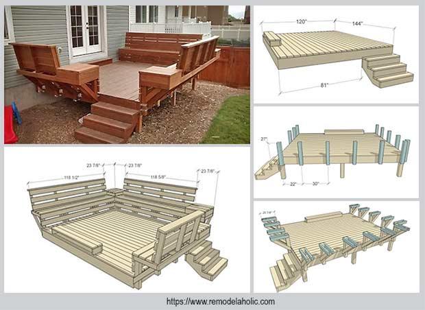 скамейка для террасы