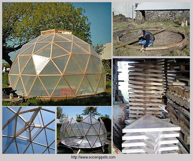 строительство геодезической теплицы