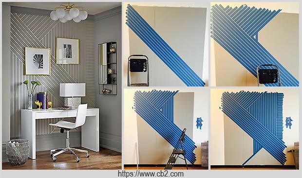 геометрический узор на стене