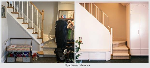 пространство у лестницы