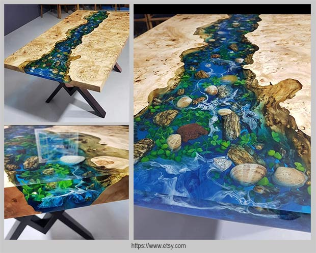 стол из древесины тополя